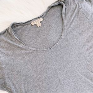 Burberry Tops - BURBERRY BRIT Gray Scoop Neck Short Sleeve T-Shirt